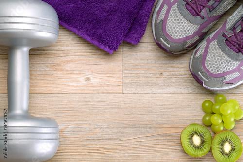 Fotografie, Obraz  Fitness-Training und gesunde Ernährung
