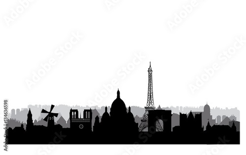 Paris skyline Wallpaper Mural