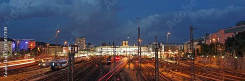 Poster Treinstation Der Hauptbahnhof in München