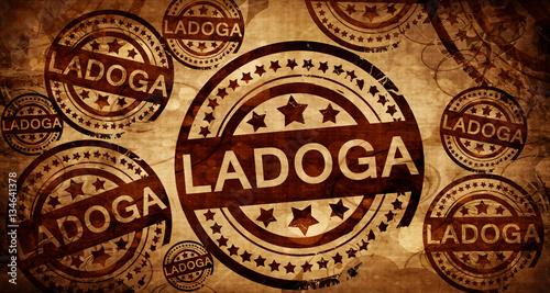 Fotografie, Obraz  Ladoga, vintage stamp on paper background