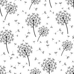 NaklejkaBackground seamless pattern with stylized dandelions
