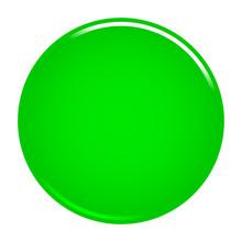 Green Circle Button Blank Web Internet Icon
