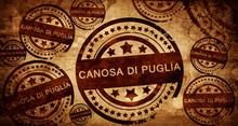 Canosa Di Puglia, Vintage Stamp On Paper Background