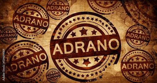 Fotografering  Adrano, vintage stamp on paper background