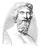Plato, vintage engraving. - 134652767