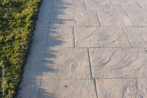 Stamped Concrete Pavement Slate Stone Pattern Decorative Appearance