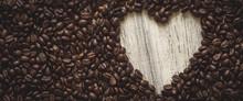 Heart Shape In Coffee Beans