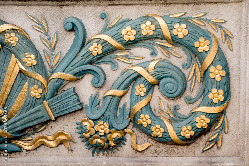 Fototapety, obrazy: Example of Ottoman art patterns applied on stone