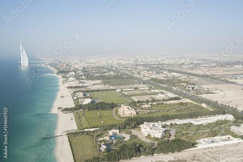 Photo  Aerial view of the famous Burj Al Arab Hotel in Dubai, United Arab Emirates