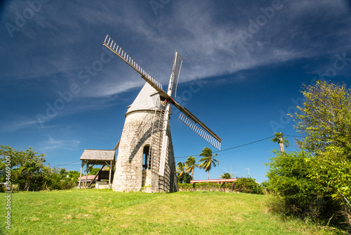 traditional  wind mill in Guadeloupe