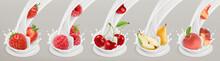 Fruit, Berries And Yogurt. Rea...