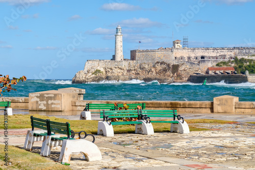 Photo The fortress and lighthouse of El Morro in Havana