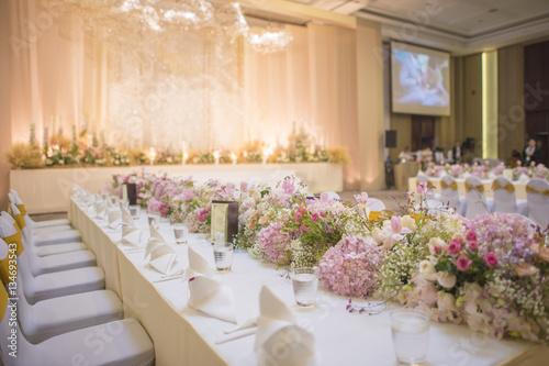 Fotografia The elegant dinner table.