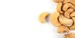 Roasted cashews close up