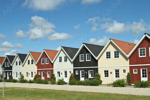 Poster Scandinavie Houses in a village in Denmark