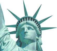 Statue Of Liberty Close Up Portrait