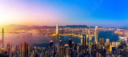 Plakat Podróże po Azji - sceny w Hongkongu