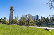 Watch Tower In Riverfront Park...