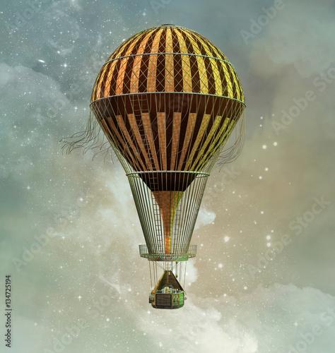 Fotografie, Obraz  Steampunk hot air balloon