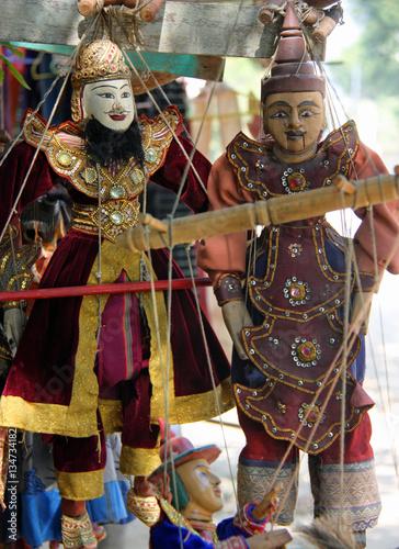 Garden Poster Fairytale World Marionnettes traditionnelles en Birmanie