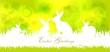 canvas print picture - Osterhintergrund mit Osterhasen