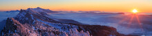 Snow Covered Mountainrange, Ve...