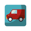 van delivery vehicle isolated icon vector illustration design