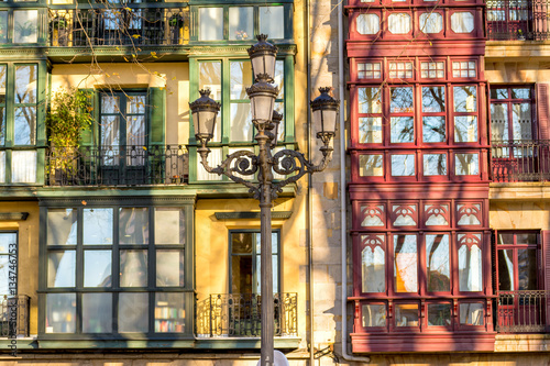 traditional architecture at bilbao city, spain