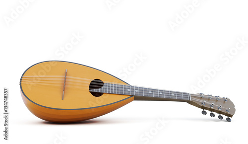 Mandolin musical instrument isolated. 3d rendering Wallpaper Mural