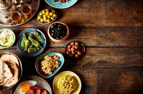 Various Arabic breakfast Canvas Print