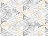 Fototapeta Perspektywa 3d - flower pattern vector, repeating linear petal of flower, monochrome stylish