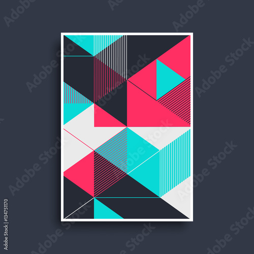 Foto  Geometric cover design