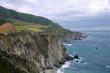 Landscape, mountain, mountain, Trassa1, cool, Ocean, waves, avian flight, trail rocks, tide, wind, summer, United States, California, slope, breakage, trail, Gorge road, turn.