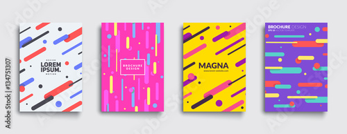 Fotografía  Covers with flat geometric pattern