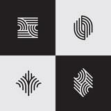 Modern line logos. Futuristic geometric shapes. Eps10 vector.