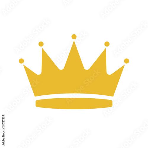 Cartoon illustration of crown vector icon for web design Fototapet