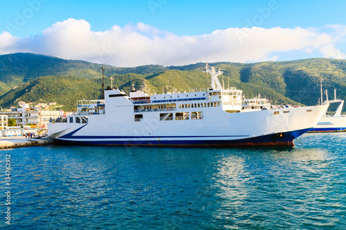 The ferry on the Mediterranean Sea in Greece Wallpaper Mural