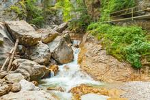 Waterfall In Poellatcanyon (bavaria - Germany)