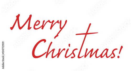 Merry Christmas Letter T.Merry Christmas Text With Letter T Stretched Out To A Shape