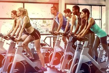Fit People Working Out At Spin...