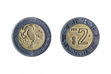 Two Peso Mexican Coin
