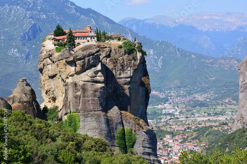 monastery meteora greece Fototapet