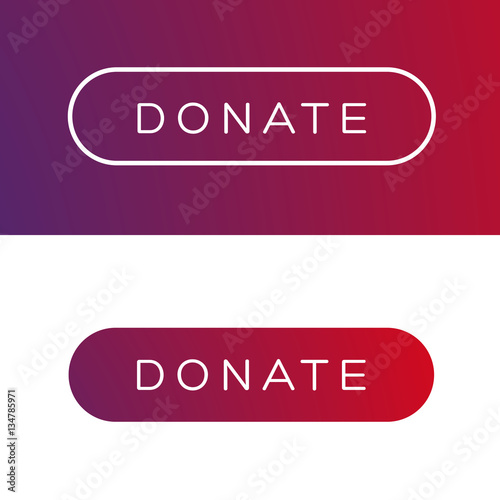 Fotografie, Obraz  Modern Donate button flat