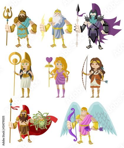 greek and roman gods goddess and heroes - Buy this stock