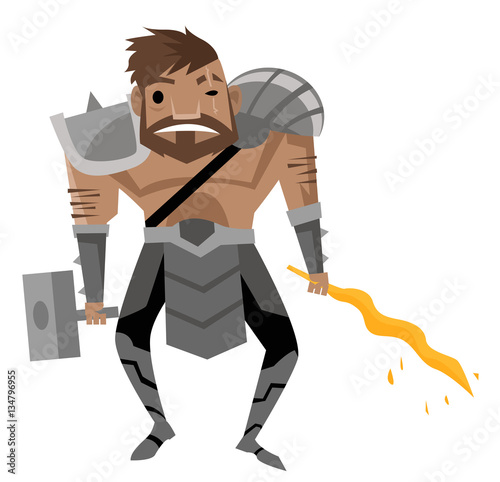 Платно vulcan hephaestus greek roman god of the fire and the forge