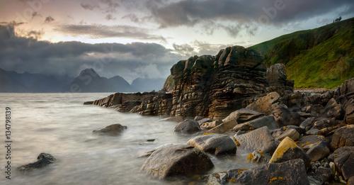 Poster Sea Elgol stones