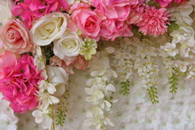 Colorful Of Artificial Flower For Background