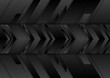 Black abstract tech arrows background