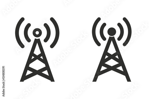 Billede på lærred Communication tower - vector icon.