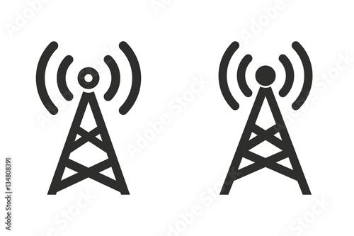 Communication tower - vector icon. Fototapet